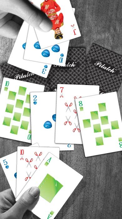 An example where two players each have a pair of Tens.